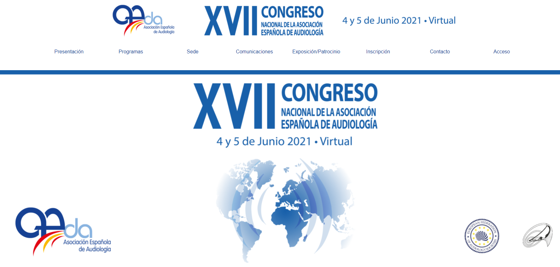 Website del congreso de AEDA 2021
