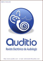 Portada Auditio 2011: Coclea en un circulo azul